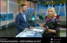 Palvelumuotoilu - mitä kaikkea se on? Ornamo-palkittu Mikko Koivisto kertoo Yle aamu-tv:n haastattelussa, miten palvelumuotoilun avulla tehdään sähkölaskun maksamisesta tai ratikkamatkasta sujuvampaa. Tv, Television Set, Television