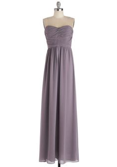 This Sway to the Party Dress - Solid, Ruching, Special Occasion, Prom, Wedding, Bridesmaid, Maxi, Strapless, Sweetheart, Pastel, Long, Chiff...