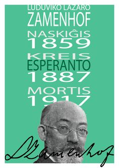 Zamenhof is the creator of Esperanto. Someone very impressive not only by the language itself, not only because he is a non-violent leader but mainly by its very soft management.