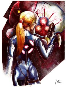 Samus Aran - Super Metroid by Jessonga.deviantart.com on @DeviantArt