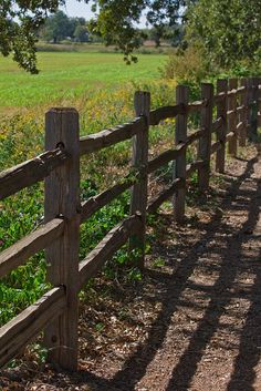 An old wooden ranch fence in the Texas Hill Country - IMG_2352 by VisitSanAntonio, via Flickr