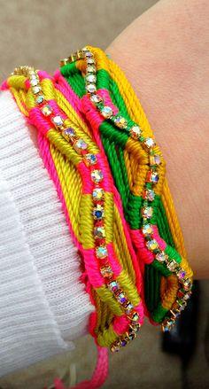 neon friendship bracelets!