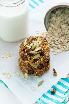 Pumpkin Banana Breakfast Cookies {Gluten-Free + Vegan} - The Messy Baker Blog