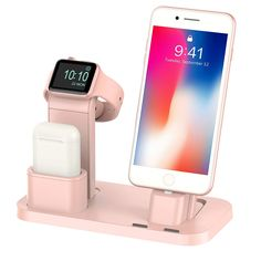 Apple Watch Stand, BEACOO Charging stand Dock Station AirPods Stand Charging Docks Holder, Support Apple Watch NightStand Mode and iPhone with Various Case Coque Iphone, Iphone 11, Iphone Cases, Iphone Stand, Apple Iphone, Apple Watch Accessories, Iphone Accessories, Apple Watch Charging Stand, Electronics Gadgets