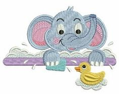 Baby Elephant 4 - 4x4 | What's New | Machine Embroidery Designs | SWAKembroidery.com Ace Points Embroidery