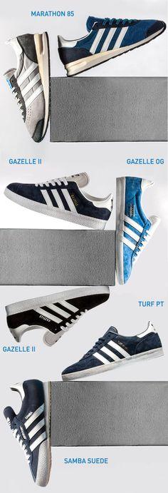 adidas Originals - Marathon 85, Tuft PT, Samba Suede, Gazelle OG, Gazelle II