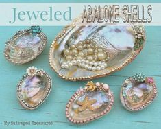 Jeweled Abalone Shells mysalvagedtreasures.com