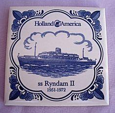 HOLLAND AMERICA LINE SS RYNDAM II COASTER TILE