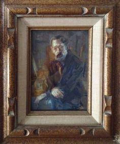 James J. Ingwersen, self portrait, pastel