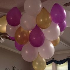 Balloon Chandelier I Made For My Sisters Birthday She Loved It