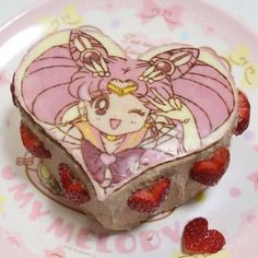 Immagine di sailor moon, cake, and pink Sailor Moon Cakes, Sailor Moon Party, Pretty Cakes, Cute Cakes, Moon Food, Kawaii Dessert, Cute Birthday Cakes, Japanese Snacks, Cute Desserts
