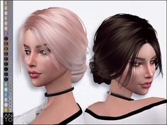 Anto - Maggie (Hairstyle) - The Sims 4 Sims 4 Teen, Sims 4 Toddler, Sims Cc, Sims 4 Mods Clothes, Sims 4 Clothing, Los Sims 4 Mods, The Sims 4 Skin, Sims 4 Traits, The Sims 4 Cabelos