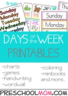 Free Preschool Printables at Preschool Mom  Excellent resource for preschool printables organized by theme