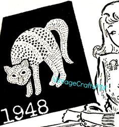 Pdf crochet pattern black cat applique pattern by jelenateperik pdf crochet pattern black cat applique pattern by jelenateperik projets en cours pinterest dt1010fo