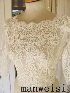 Branco marfim meia manga Bolero botões de casamento acessórios Custom made em Jaquetas Envoltório de Casamento de Casamentos e Eventos no AliExpress.com | Alibaba Group