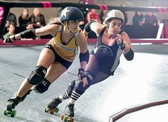 I could totally rock this. ;)  Learn Roller Derby with L.A. Derby Dolls.