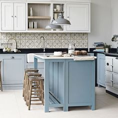 Love the Provence touch on this kitchen design