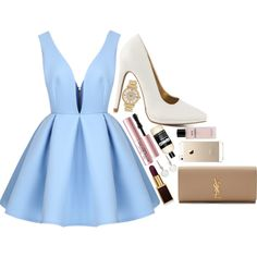 Modern Cinderella by eden-kolb on Polyvore featuring polyvore, fashion, style, Qupid, Yves Saint Laurent, Michael Kors, Whistles, Too Faced Cosmetics, Tom Ford, Chanel and modern