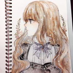 "12.9k Likes, 45 Comments - Cherri (@cherririi) on Instagram: ""✶ Watercolor on @mosseryco sketchbook #doodle #mossery"""