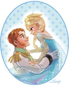 I and my beautiful Elsa of Arendelle are officially going out. My queen decided to give me a chance, and for that I am immensely lucky. Disney Kiss, Disney Couples, Disney Fan Art, Cute Disney, Disney Dream, Disney Magic, Frozen Hans, Frozen And Tangled, Frozen Elsa And Anna