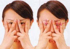 Azjatycki Cukier: 73. Pozbądź się zmarszczek i worków pod oczami za pomocą ćwiczeń.