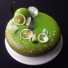 Chocolate mousse, lime cremeux, chocolate joconde sponge insert, coconut biscuit base by Livia Abraham