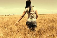 Senior pictures in the Wheat fields