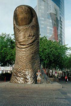 Large Thumb (Le Pouce). a sculpture by César Baldaccini @  La Défense, France