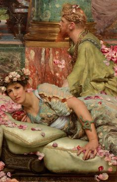 Detail from The Roses of Heliogabalus by Sir Lawrence Alma-Tadema 1888 Oil on canvasPrivate collection