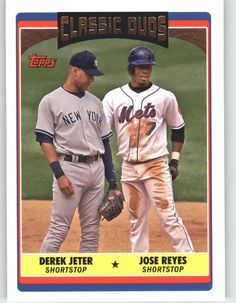 2006 Topps Update 326 Derek Jeter / Jose Reyes CD - New York Mets (Classic Duos) (Baseball Cards) ** Details can be found by clicking on the image.