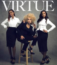 The gospel trio Virtue is comprised of sisters: founder Karima Kibble, wife of Take 6 group member Joey Kibble; Ebony Holland, and Heather Martin, graduates of Historically Black Seventh Day Adventist affiliated Oakwood University.