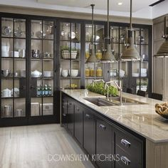 46 Attractive Industrial Kitchen Ideas That Will Amaze You - ZYHOMY,Attractive Industrial Kitchen Ideas That Will Amaze Raise Your Space With New Kitchen Decor Your kitchen might be an operating space at home, bu. Refacing Kitchen Cabinets, Custom Kitchen Cabinets, Custom Kitchens, Custom Cabinetry, Home Kitchens, Glass Cabinets, Glass Kitchen Cabinet Doors, Soapstone Kitchen, Modern Cabinets