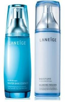 KOREAN COSMETICS, Amorepacific_ Laneige, A set of water-filled lotions and Essence (BALANCING EMULSION_MOISTURE120ml+Water Bank Essence 60ml) (moist, Long Lasting, and balance)[001KR] by Laneige. $95.00. Note to the first users : If you have  not used this item before, try the cosmetic with small amount on your skin. If you find any trouble with the product, please stop using and discuss with your skin expert or doctor. If you have any allergy or trouble with the ingredients of ...
