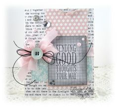 like the colors --   Sending Good Thoughts Your Way - Paperie Blooms