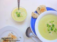 potato leek soup with almond galletes