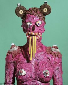 James Ostrer made the monstrous portraits as a protest against the rampant consumption of ...