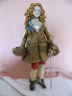 French Male Boudoir Doll - WOW!!! ANCIENNE-POUPEE-DE-SALON-HOMME-18eme-SIECLE-SOIE-ANTIQUE-MALE-BOUDOIR-DOLL-SILK