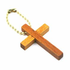 Wooden Cross Keychains package of 12