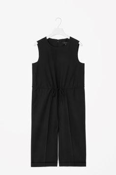 Wide-leg wool jumpsuit