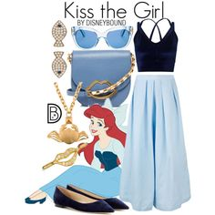Kiss the Girl by leslieakay on Polyvore featuring Miss Selfridge, Rachel Comey, Jimmy Choo, Lulu Guinness, Valentino, Latelita, Bling Jewelry, Kate Spade, Lab and disney