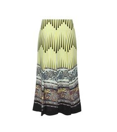 Etro Printed Pleated Wool Skirt For Spring-Summer 2017