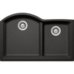 Buy Here: http://thd.co/1K2HgVv SCHOCK EDO CRISTADUR EDON175YU088 Undermount Granite Composite 33 in. 0-Hole 70/30 Double Bowl Kitchen Sink in Stone #kitchensink #kitchensinks #kitchen #sinks #schock #granitesink
