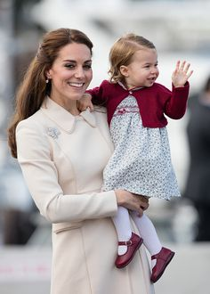Catherine, Duchess of Cambridge and Princess Charlotte of Cambridge depart Victoria on October 1, 2016 in Victoria, Canada.