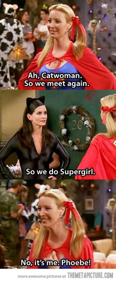 Just Phoebe being Phoebe…love Friends :)