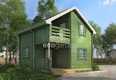 """""""Орси"""" (6,0x5,8x5,9 м) Садовый домик. Брус 135х45 мм"""