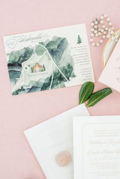 One and Only Paper — Kate & Drake's soft, romantic mountain wedding...