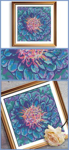 This modern cross stitch pattern!