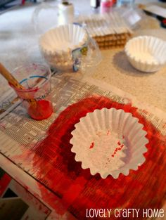 Tutorial: Coffee Filter Flowers and Valentine's Decor