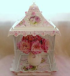 Shabby Romantic Pink Vintage Birdcage