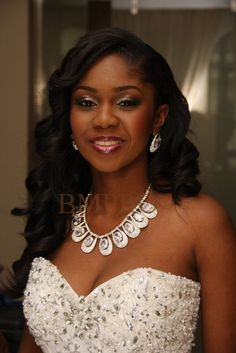 White, Black and Gold Wedding Make up. ♥Wedding Digest Naija ♥Nigerian